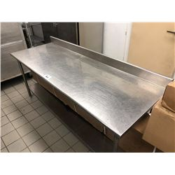 "STAINLESS STEEL 2 TIER 84"" X 30"" PREP TABLE"