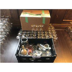 LOT OF RESTAURANT GRADE GLASSWARE