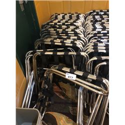 APPROX 40 FOLDING  PORTABLE LUGGAGE STANDS