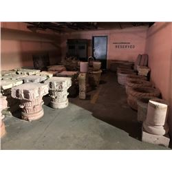 LARGE LOT OF PLANTERS AND PILLARS