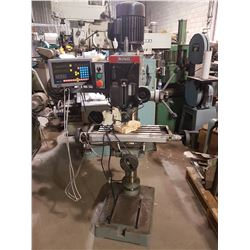 King Industrial Milling with Digital Read Out. Indexable Head plus table height adjustable