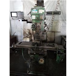 Milling Machine with Digital Read Out