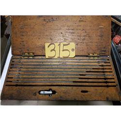 """Starrett No.124-B Inside Micrometer Set 2""""-18"""""""