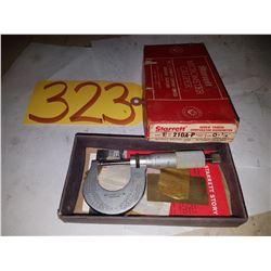 "Starrett No.210A-P Micrometer 0-7/8"""