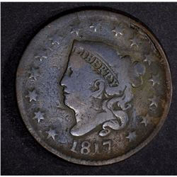 1817 LARGE CENT 15 STARS FINE