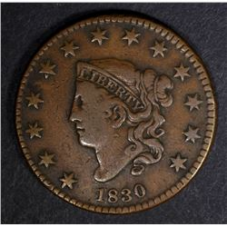 1830 LARGE CENT VF