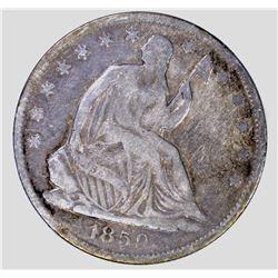 1859-O SEATED HALF DOLLAR, VF
