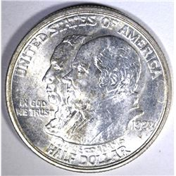 1923-S MONROE COMMEM HALF DOLLAR, CH BU