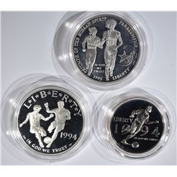 1995-P Olympic & 1994 P & S World Cup Commems.