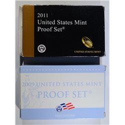 2009 & 2011 U.S. PROOF SETS IN ORIG. PACKAGING