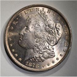 1878 8TF MORGAN DOLLAR  CH BU+