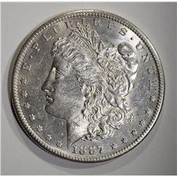 1887-S MORGAN DOLLAR  CH BU
