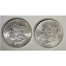 1888 CH BU & 1890-S CH BU MORGAN DOLLARS