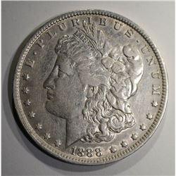"""1888-O MORGAN DOLLAR """"HOT LIPS""""  AU"""