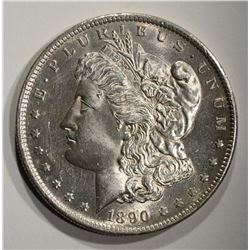 1890-S MORGAN DOLLAR  BU PL