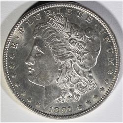 1891 MORGAN DOLLAR  GEM BU