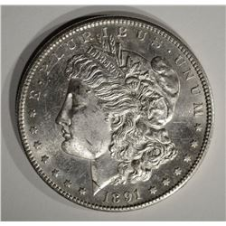 1891-S MORGAN DOLLAR  CH BU PL