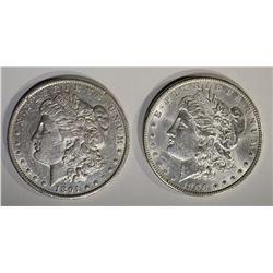 1891-O AU & 1900 BU MORGAN DOLLARS
