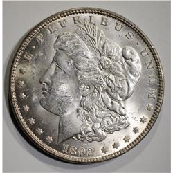 1892 MORGAN DOLLAR  GEM BU