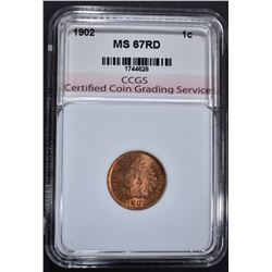 1902 INDIAN HEAD CENT CCGS SUPERB GEM RD