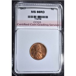 1917 LINCOLN CENT CCGS SUPERB GEM RD
