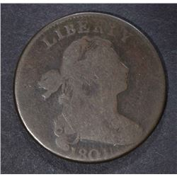 1801 LARGE CENT, G/VG