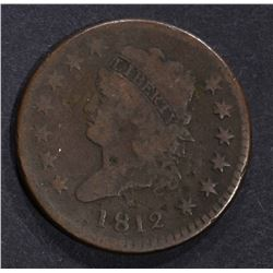 1812 CLASSIC HEAD LARGE CENT, VG few marks