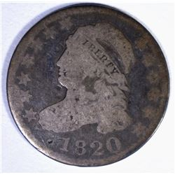 1820 CAPPED BUST DIME, VG