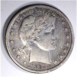 1895-S BARBER HALF DOLLAR, VF