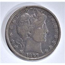 1897 BARBER HALF DOLLAR, F/VF