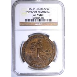 1934 ID HK-690 SO CALLED DOLLAR, NGC AU-55 BN