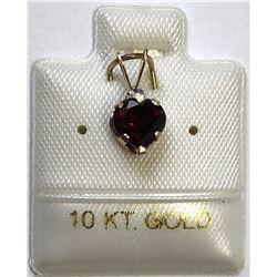 10kt GARNET (0.88ct) PENDANT