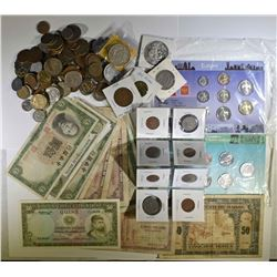 FOREIGN COINS & CURRENCY - w/SILVER