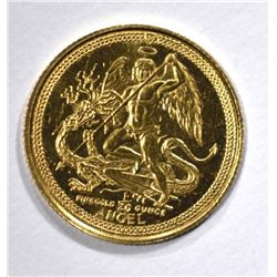 1991 1/20 oz .999 GOLD ISLE OF MAN ANGEL