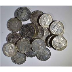 21 - 1958 CANADA SILVER DOLLARS NICE