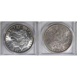 1890 BU & 1883-O BU MORGAN DOLLARS