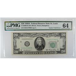 1950A $20 FEDERAL RESERVE NOTE ST. LOUIS