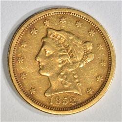 1852-O $2 1/2 GOLD LIBERTY  AU