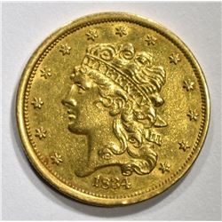 1834 $5 CLASSIC HEAD GOLD PLAIN 4   BU
