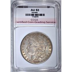 1890-CC MORGAN DOLLAR CCGS AU