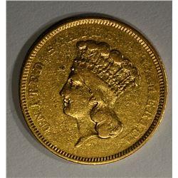 1854 O $3.00 GOLD  XF
