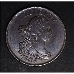 1805 DRAPED BUST HALF CENT  CH BU