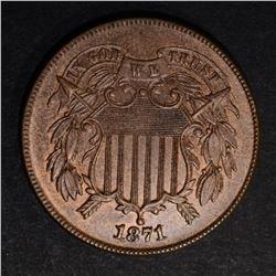 1871 TWO CENT PIECE  CH BU+