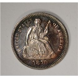 1870 SEATED HALF DIME  CH PROOF