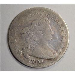 1807 DRAPED BUST DIME  F/VF