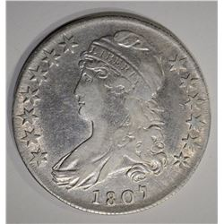 1807 CAPPED BUST HALF DOLLAR  VF/XF