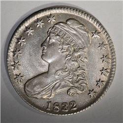 1832 CAPPED BUST HALF DOLLAR  AU/BU