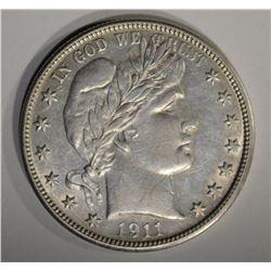 1911 D BARBER HALF DOLLAR  CH BU