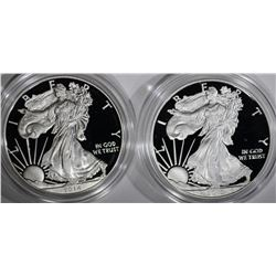 2014 & 15 PROOF AMERICAN SILVER EAGLES