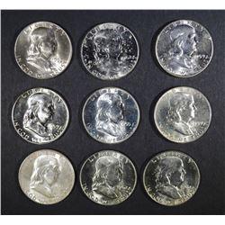 CHBU FRANKLIN 50c; 2-1955, 3-1959, 4-